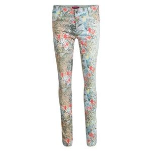 Alice + Olivia Multicolor Floral Skinny Jeans